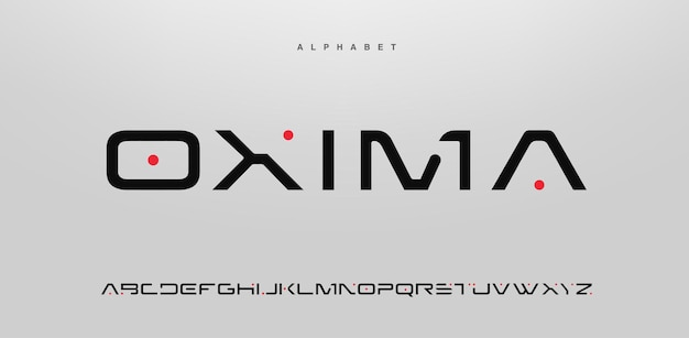 Abstract modern alphabet font in uppercase Premium Vector