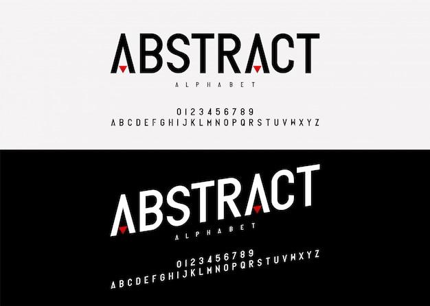 Abstract modern alphabet font.