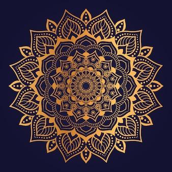 Abstract modern arabesque floral luxury golden background design