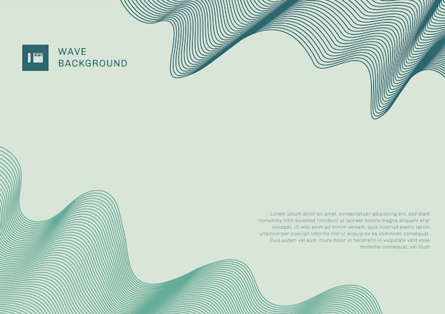 Abstract modern background blue and green wave lines elements with space for your text.