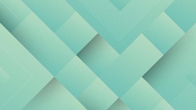 青い光のグラデーションパステルカラーと正方形の形の要素を持つ抽象的なモダンな背景