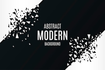 Abstract Modern Background with Broken Polygonal Shapes
