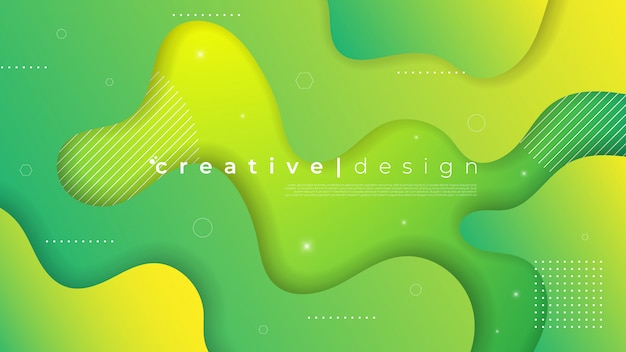 Abstract modern background with fluid liquid element and gradient color.