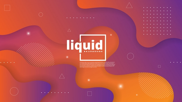 Abstract modern background with fluid and liquid element