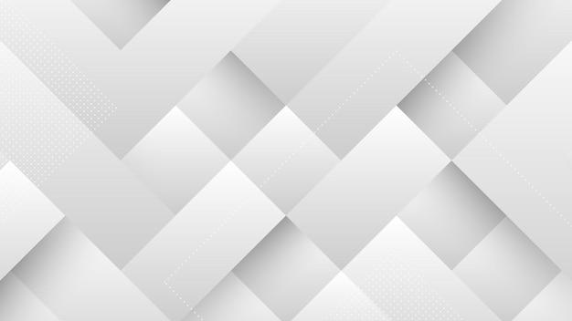 灰色の白いグラデーションパステルカラーと正方形の形の要素を持つ抽象的なモダンな背景