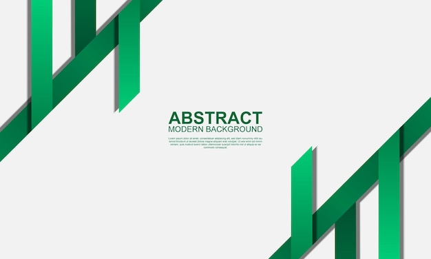 Abstract modern background with green stripes vector illustration