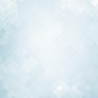 ハーフトーンと正方形のモザイク要素と青いグラデーションの色で抽象的なモダンな背景