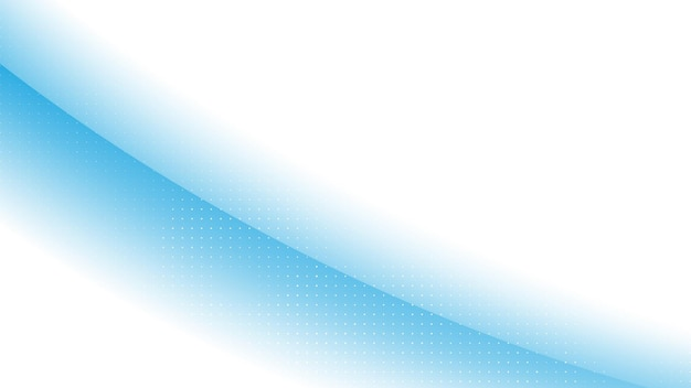 ハーフトーン要素とウェーブブルーのグラデーションカラーで抽象的なモダンな背景