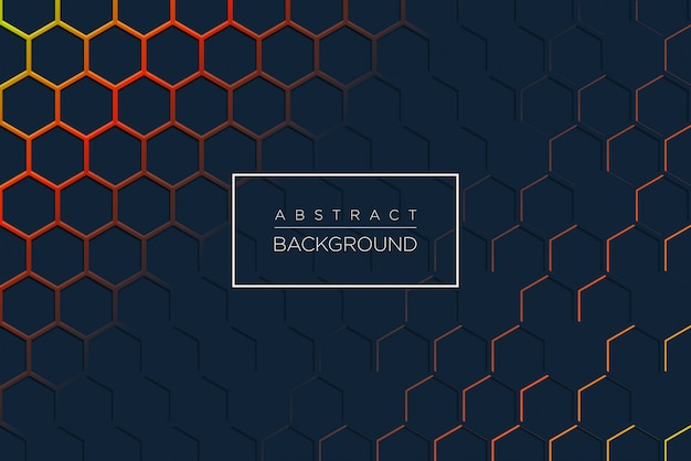 Abstract modern background with hexagonal shape