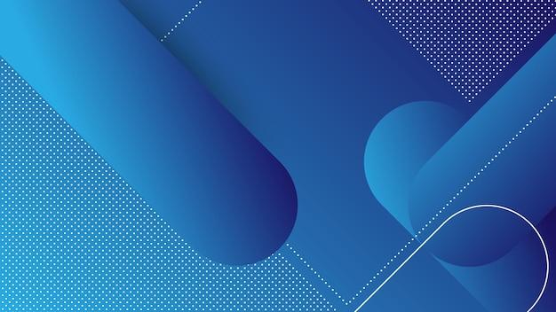 メンフィス要素と青いグラデーションの色で抽象的なモダンな背景