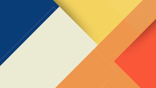 メンフィスペーパーカットスタイルとオレンジパステルカラーの抽象的なモダンな背景