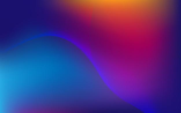 Абстрактный современный фон с элементом волны движения и ярким градиентом цвета