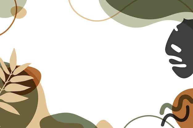 有機的な形で抽象的な現代背景。フラットの図。
