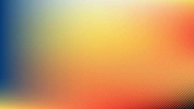 パステルブルーレッドオレンジ色のグラデーションハーフトーン要素とぼかし効果を持つ抽象的なモダンな背景