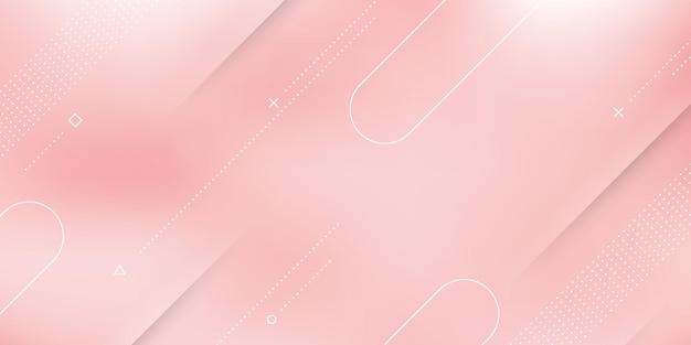 핑크 화이트 파스텔 그라데이션, 흐림 효과 및 현대적인 요소와 추상 현대 배경.