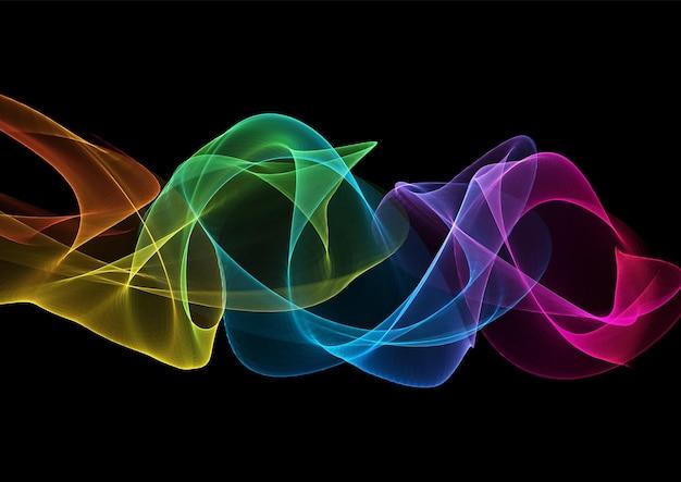 Fondo moderno astratto con il disegno delle onde che scorre arcobaleno