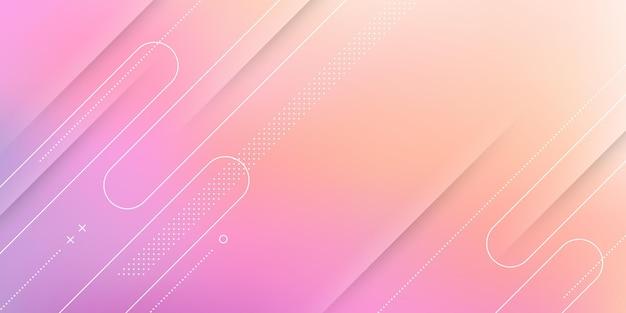 레드 오렌지 핑크 파스텔 그라데이션, 흐림 효과 및 현대적인 요소와 추상 현대 배경