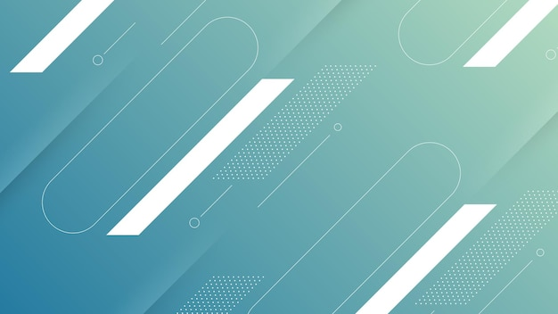 Abstract modern background with soft blue color gradient and memphis element