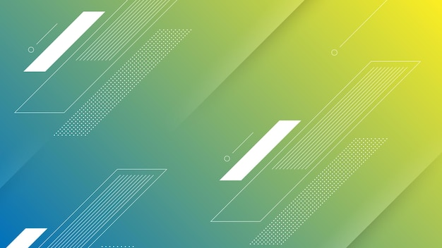Abstract modern background with vibrant blue yellow color gradient and memphis element