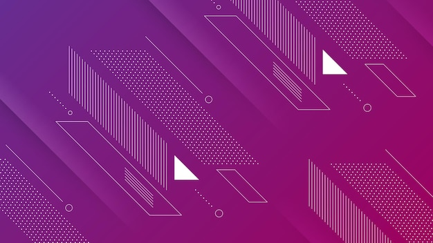 Abstract modern background with vibrant color gradient and memphis element