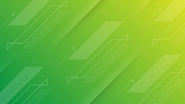 Abstract modern background with vibrant green yellow  color gradient and memphis element