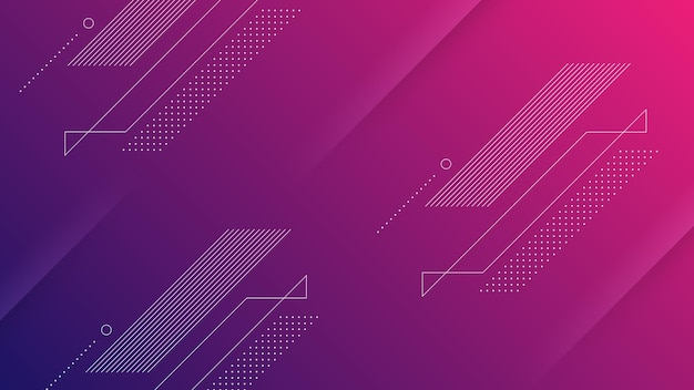 Abstract modern background with vibrant red purple color gradient and memphis element