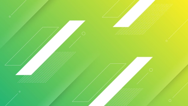 Abstract modern background with vibrant yellow green color gradient and memphis element