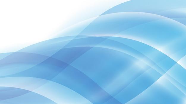 Абстрактный современный фон с волной синий цвет градиента