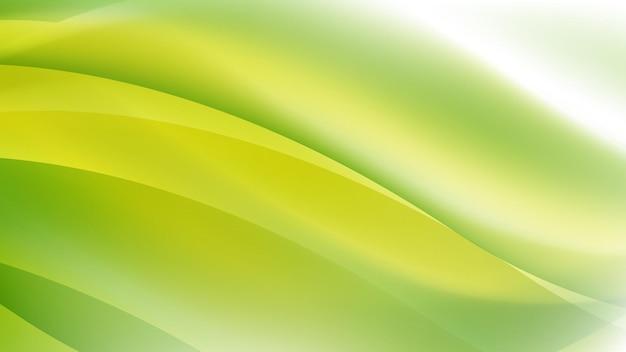 Абстрактный современный фон с волновым элементом и ярким зеленым желтым градиентом цвета
