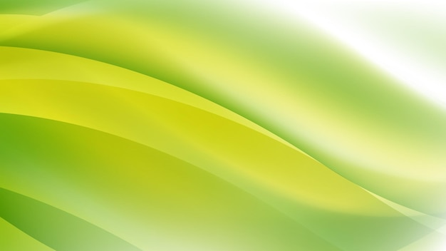 Abstract modern background with wave element and vibrant green yellow gradient color