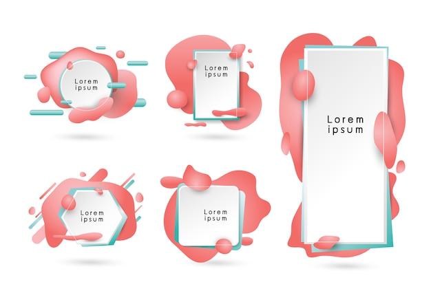 抽象的なモダンなバナーの背景デザイン