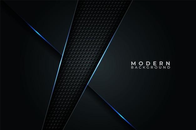 Abstract modern banner futuristic technology blue glow in dark background
