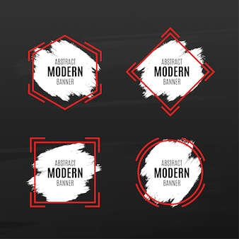 Abstract modern banner pack with splash