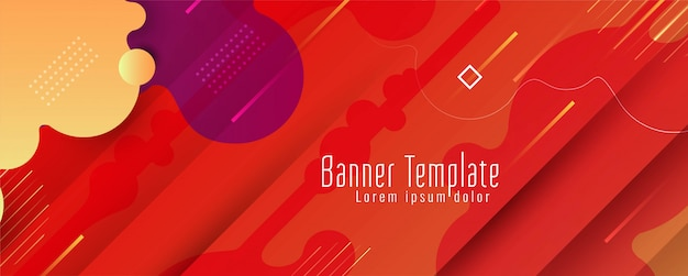 Abstract modern banner  template