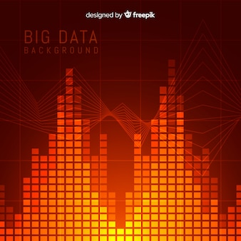 Abstract and modern big data background concept