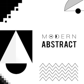抽象的なモダンな黒と白のテンプレート