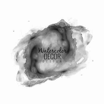 Abstract modern black watercolor design background