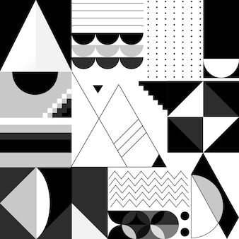 Abstract modern black and white template