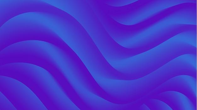 Abstract modern blue 3d fluid shape background