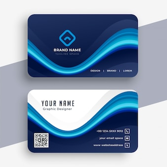 Abstract modern blue business card template