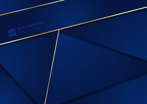 Abstract modern blue geometric triangles background