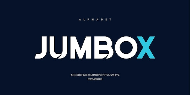 Abstract modern bold font. elegant alphabet with uppercase style for technology, logo, and sports
