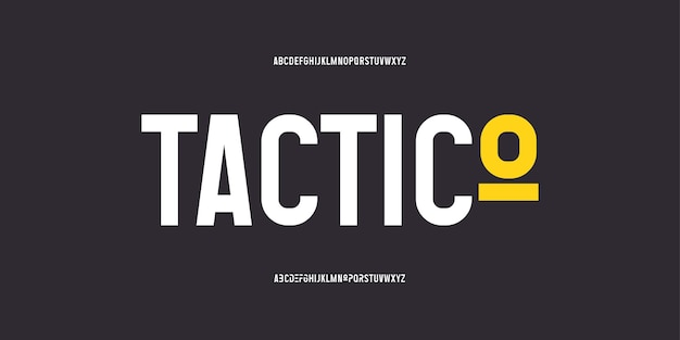 Abstract modern bold font. elegant typography with urban style for technology, logo, and sports