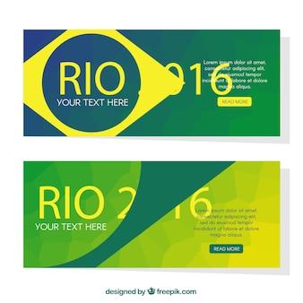 Абстрактные современные бразилия 2016 года баннеры