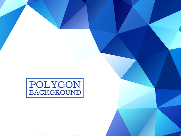 Abstract modern bright blue geometric background