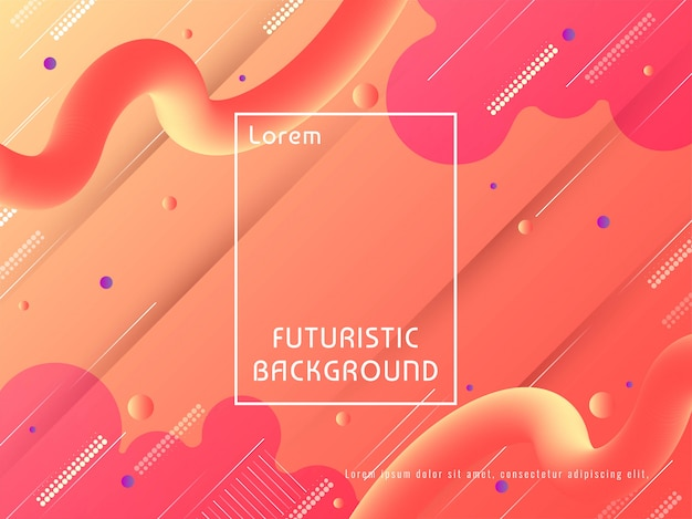 Abstract modern bright futuristic techno background