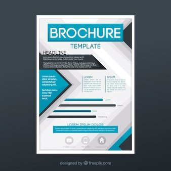 Abstract modern business brochure