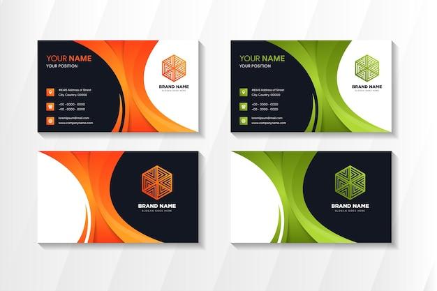 Абстрактный современный шаблон дизайна визитной карточки.