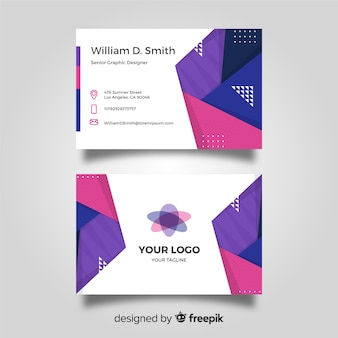 Abstract modern business card template concept