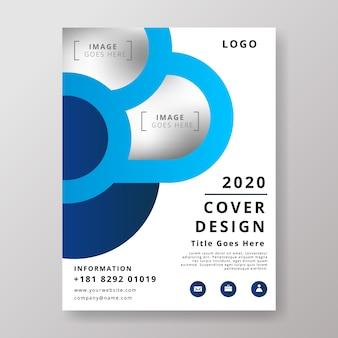 Abstract modern business flyer design template